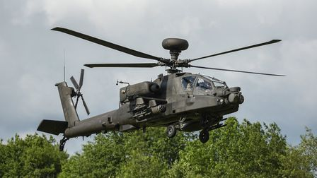 Neighbours of RAF Honington have been informed that Apache helicopters are training in the area Pict