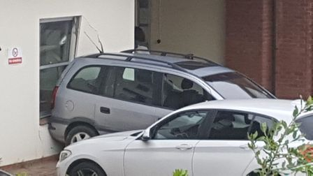 A car has crashed into the Ivry Street medical practise. Picture: ARCHANT