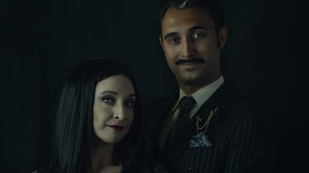 Owen Berry as Gomez and Charlotte Curtis as Morticia in IODS porduction of The Addams Family at the