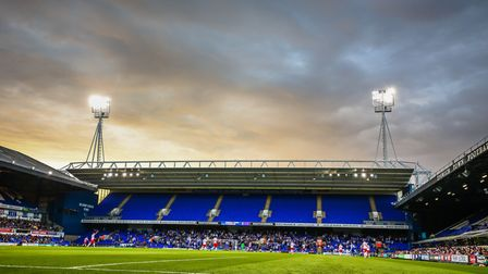 A general view of the ground during the Ipswich Town v Stevenage (EFL Cup First round) match at Port
