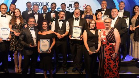 All the winners of the Suffolk Business Awards 2019 Picture: SARAH LUCY BROWN