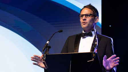 Brad Jones, editor of the East Anglian Daily Times and Ipswich Star, at the Suffolk Business Awards