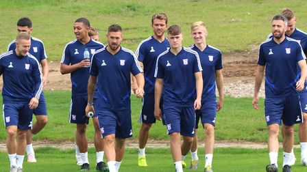 Ipswich Town players pictured as they return to pre-season training and gearing up for League One. P