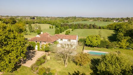 A drone photo of The Granary, Hasketon Picture: RUFUS OWEN, FULL ASPECT