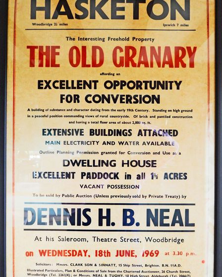 A poster from when the old Granary originally went up for sale in 1969. Picture: Rufus Owen, Full As