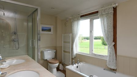 One of the bathrooms at The Granary, Hasketon. Picture: RUFUS OWEN, FULL ASPECT