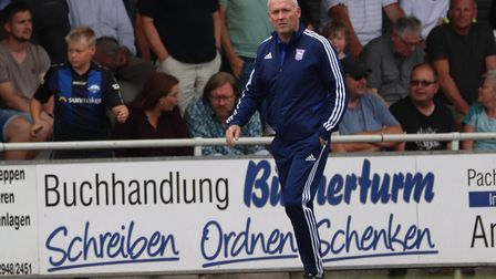 Ipswich Town manager Paul Lambert during the Paderborn friendly. Picture: ROSS HALLS
