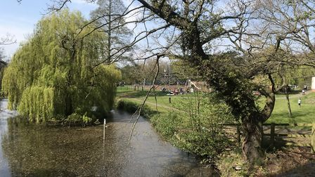 Holywells Park in Ipswich in the sunshine. Picture: NEIL PERRY