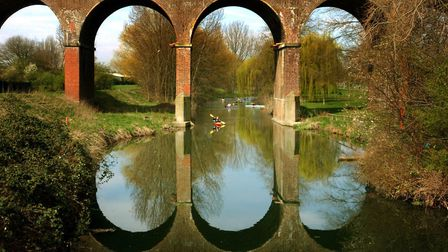 The River Chelmer beside Central Park, Chelmsford, Essex. Picture: ANDREW PARTRIDGE