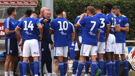 Ipswich Town manager Paul Lambert during the pre-season friendly against Paderborn Picture: ROSS HAL