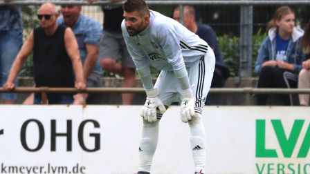 Bartosz Bialkowski featured in the second half during the pre-season game against Paderborn Picture: