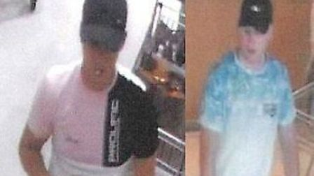 Police in Essex would like to speak to these men following a theft in Colchester Picture: ESSEX POLI