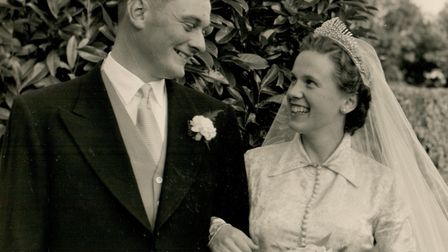 Pat and John�s wedding on September 5, 1953 Picture: FAMILY COLLECTION