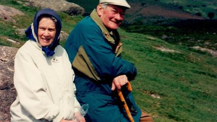 Pat and John on Dartmoor in 1998 Picture: FAMILY COLLECTION