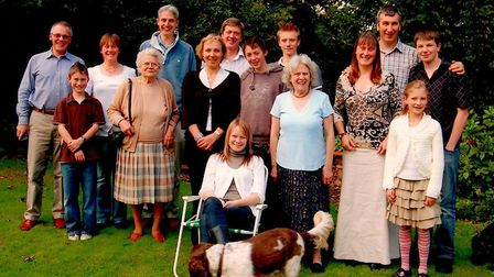 Pat with her children and grandchildren on granddaughter Georgie�s 18th birthday in 2007 Picture: FA