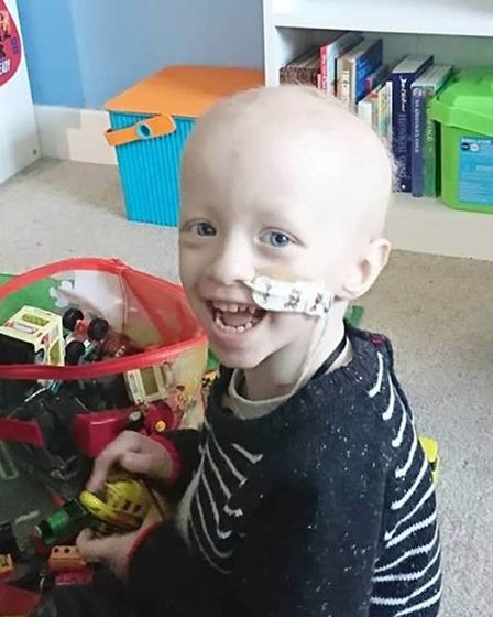 Three-year-old Archie Wilks was diagnosed with a rare childhood cancer in January Picture: WILKS FAM