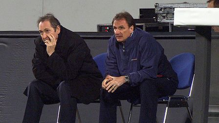 Gerard Houllier (left), who was the Liverpool manager when Ipswich last visited in 2002, and Phil Th