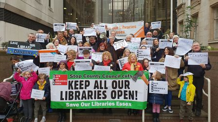 A petition was organised against the planned library closures in Essex Picture: SAVE OUR LIBRARIES E