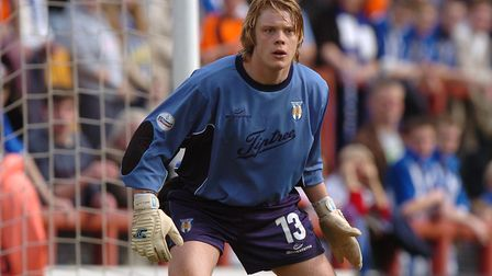 A fresh-faced Dean Gerken, pictured on his Colchester United debut at Brentford, 15 years ago, on Ap
