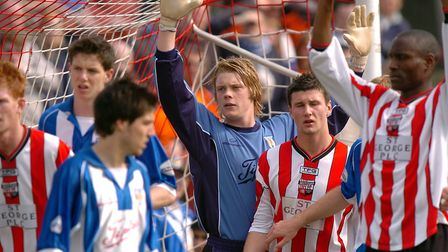 Dean Gerken, then aged 18, on his U's debut at Brentford's Griffin Park. He is set to return to the