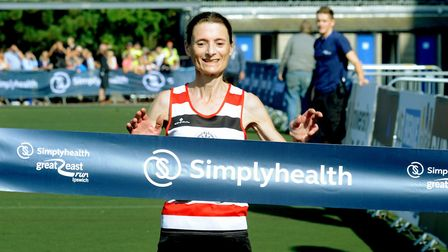 Odette Robson, pictured winning the first Simplyhealth Great East Run in Ipswich, tasted victory at