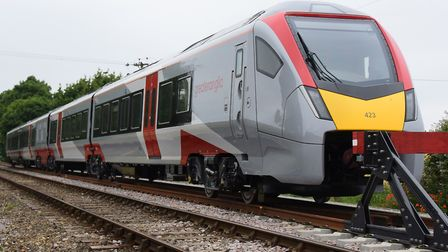 Greater Anglia's new trains are waiting to enter service. Picture: DENISE BRADLEY