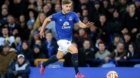 Luke Garbutt made several appearances in the Europa League for Everton in 2014/15. Photo: PA
