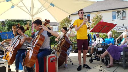 A 40-piece orchestra entertained people at the party Picture: RACHEL EDGE