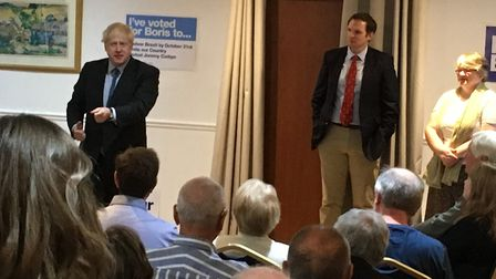 About 80 Conservatives heard Boris Johnson at the meeting in Claydon. Picture: PAUL GEATER