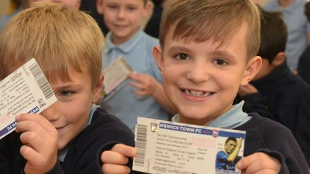 Children at Gorseland Primary School were among those to benefit from free tickets to an Ipswich Tow