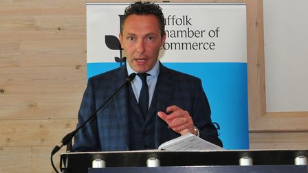 John Dugmore, Suffolk Chamber of Commerce chief executive, vowed to continue fighting for Suffolk's