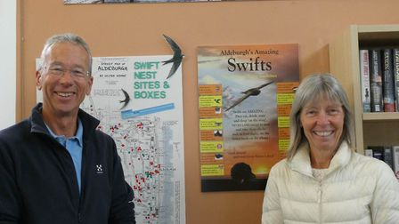 Christine Ragan and Alan Collett of Aldeburgh's Amazing Swifts Picture: ALAN COLLETT