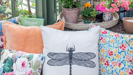 A range of insect and floral furnishings in a greenhouse. Picture: Julia Currie Photography/PA.