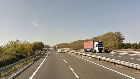 A stalled vehicle is causing tailbacks on the A12 near Kelvedon Pciture: GOOGLEMAPS