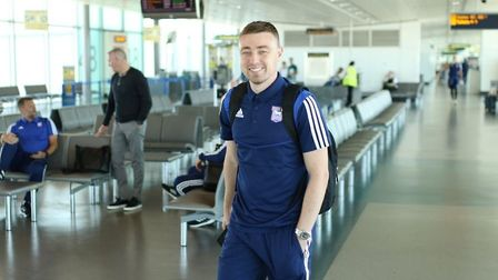 Freddie Sears is with the Ipswich squad as he continues his recovery from a knee injury. Picture: IT