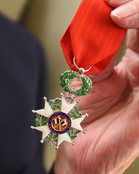 Fred Buckle has received a Legion d'Honneur medal after the EADT helped him out when he didn't recei