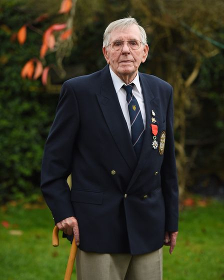 D-Day hero, Fred Buckle sadly died after falling at home. Picture: GREGG BROWN