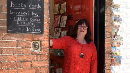 Jules Button now sells CBD tea and products at the Woodbridge Emporium Picture: SARAH LUCY BROWN