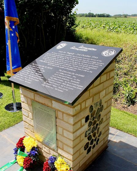 The memorial to the US airmen killed in the crash over Hitcham in 1944 Picture: CHRIS FRENCH