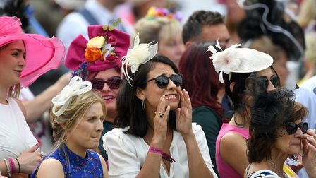 Racegoers during day one of the Moet and Chandon July Festival 2019 at Newmarket Racecourse. Picture