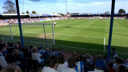 The last competitve match ever played at Layer Road, the U's home fixture against Stoke City on Apri