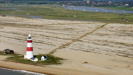 Orfordness 2011, showing erosion Picture: MIKE PAGE