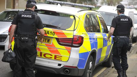 A man is being questioned by detectives after three people were stabbed in Witham Picture: SU ANDERS