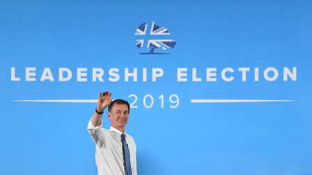 Conservative Party leadership candidate Jeremy Hunt during a Tory leadership hustings in Colchester,