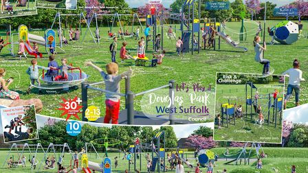 The Douglas Park play area in Mildenhall is expected to reopen next month Picture: WEST SUFFOLK COUN