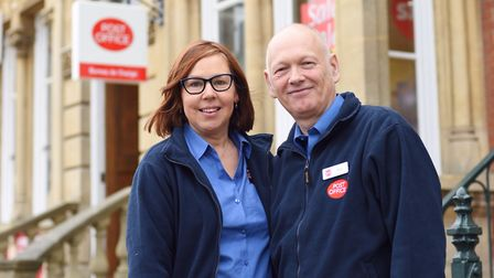 Sarah Green and Guy Mitchell have handed over ownership of Southwold Post Office. Picture: SARAH LUC