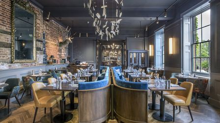 The new dining room at The Angel Hotel in Bury St Edmunds - looks tremendous. Picture: JONATHAN BANK