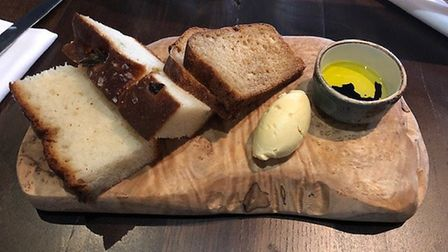 The bread at The Angel Hotel in Bury St Edmunds - very tasty, but you shouldn't have to pay for it!
