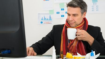 Some offices are so cold workers may have thought about wearing hats, gloves and scarves Picture: G