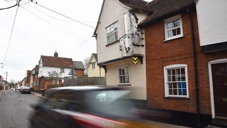The Garde II-listed building in Benton Street, Hadleigh that Paul Elmer, 73, hit with a bus Picture:
